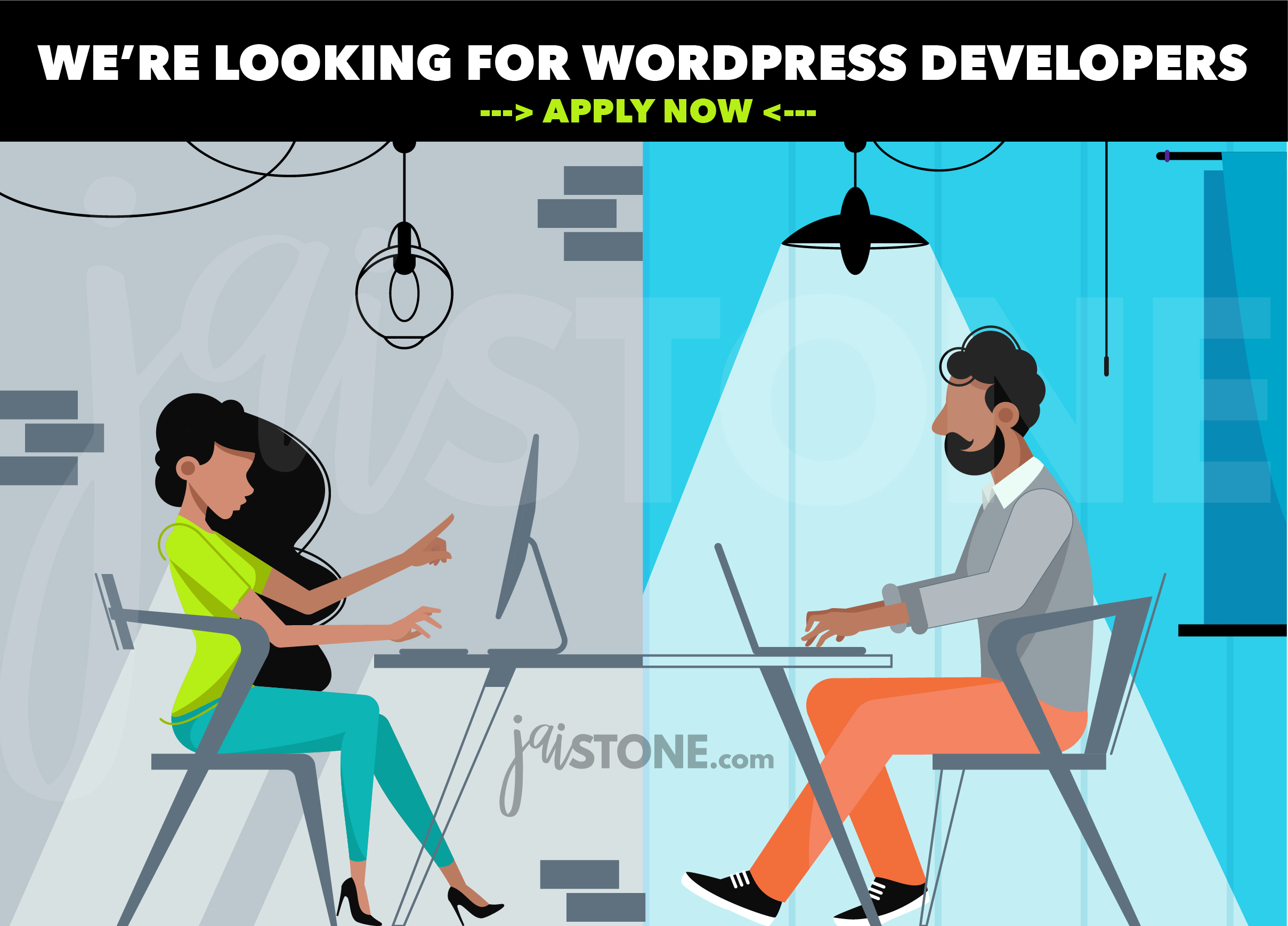 WE'RE LOOKING FOR WORDPRESS DEVELOPERS